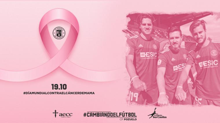 """El C.F Pozuelo y la Fundación Iker Casillas lanzan el primer reto solidario del Proyecto """"Cambiando el Fútbol"""" de esta Temporada con motivo del Día Mundial del Cáncer de mama"""
