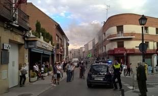 Incendio de vivienda en Aravaca