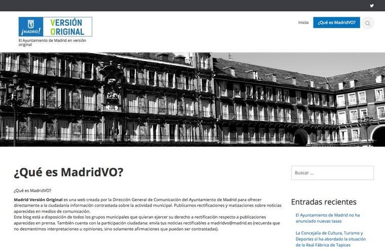 Nace el nuevo canal de información directa Madrid Versión Original