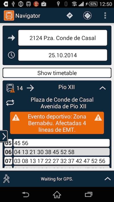 Madrid Navigator, una app para desplazamientos a pie o en bus