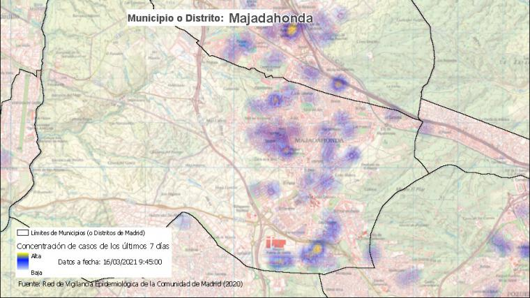 La zona básica de salud de Valle de la Oliva, en el municipio de Majadahonda, con restricciones desde el lunes