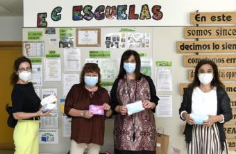 Pérez Quislant entrega un lote de mascarillas infantiles al colegio Asunción de Nuestra Señora