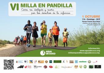 Agua de Coco organiza la Milla en Pandilla en Pozuelo para apoyar la escolarización de 1800 niños