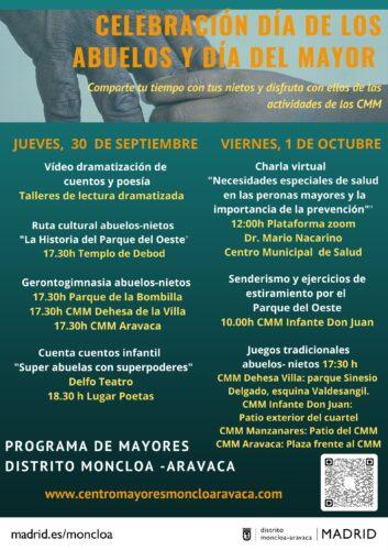 Moncloa-Aravaca celebra el día de los Abuelos y de las Personas Mayores con dos jornadas repletas de actividades intergeneracionales