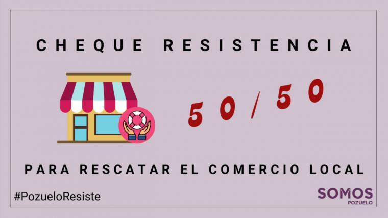 """Somos Pozuelo propone crear un """"Cheque Resistencia"""" para salvar al comercio local."""