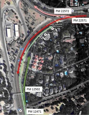 Comienzan próximamente las obras en el puente de la M30 situado sobre la carretera de El Pardo