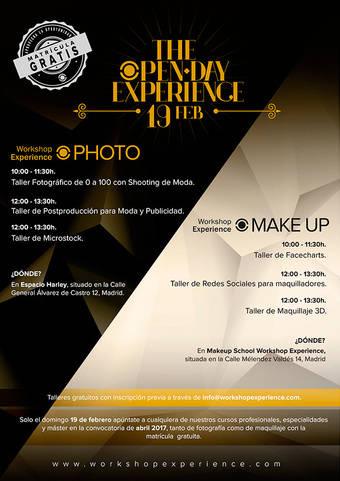 Open Day de fotografía y maquillaje