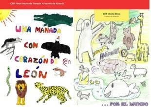 Corazones y animales en las aulas de Pozuelo