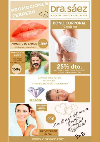 ¿Conoces las promociones del mes de febrero de la Clínica Dra. Sáez?