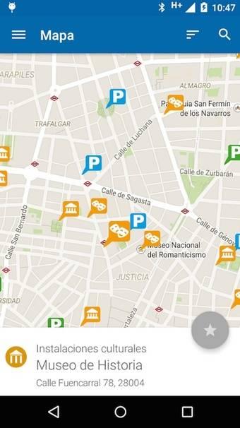 Aplicación Parking Madrid