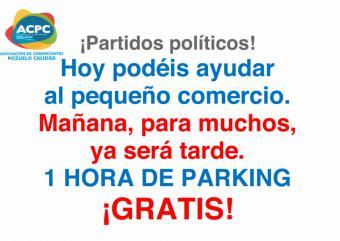 PP y Vox votan en contra del aparcamiento gratuito para el comercio y la hostelería local