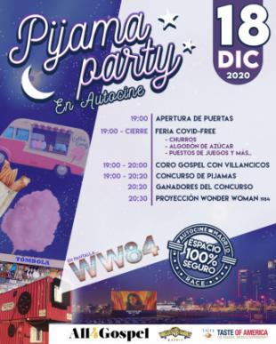 Pijama Party Autocine y estreno Wonder Woman 1984