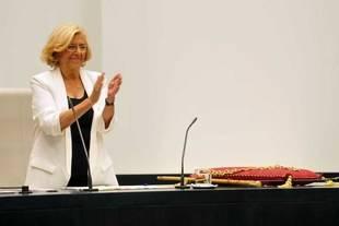 Manuela Carmena en el Pleno de Investidura del Ayuntamiento de Madrid