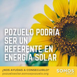 Pozuelo Solar: el plan de Somos Pozuelo para fomentar las energías renovables