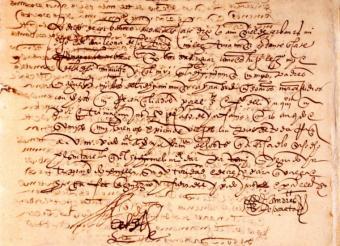 La Comunidad de Madrid reúne ocho documentos originales de la vida de Cervantes en la muestra Lepanto y Argel. Vida militar del genio de las letras
