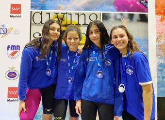 Campeonato de Madrid infantil de invierno: Cinco medallas para el Club Natación Pozuelo.