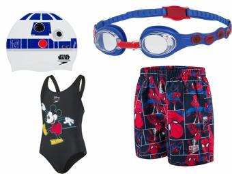 Diseños inspirados en Frozen, Spiderman o Marvel para animar a los más pequeños dentro y fuera del agua