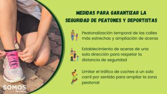 Somos Pozuelo quiere adaptar las calles para garantizar la salud de peatones y deportistas
