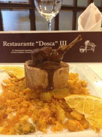 Tapa de Restaurante Dosca III: Explosión de sabores sobre tierra de Alberto.