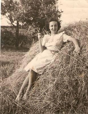 María Carvajales en Uruguay. Años 40.