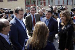 Rajoy y González votan en Aravaca