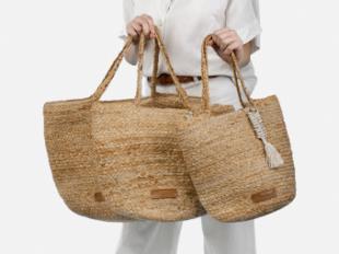 Bolsos de yute, la fibra biodegradable que triunfa cada verano