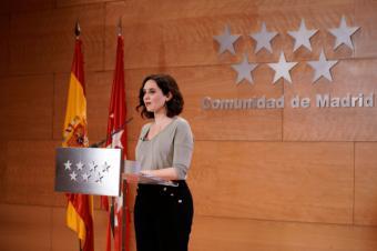 Declaración de Isabel Díaz Ayuso, presidenta de la Comunidad de Madrid