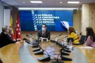 """Aguado defiende un """"sí rotundo a la libertad de elección educativa"""" frente a la LOMLOE"""
