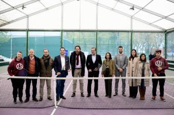 """Aguado: """"Impulsamos un convenio con la Federación de Tenis de Madrid para que el deporte sea la mejor herramienta de reinserción"""""""