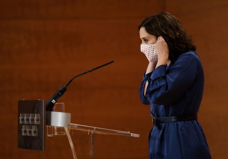 Declaración de la presidenta de la Comunidad de Madrid, Isabel Díaz Ayuso