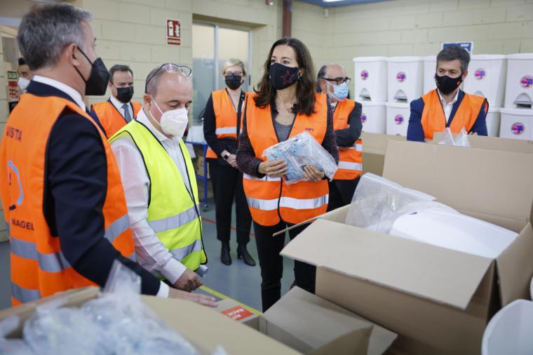 Se supervisa el material anti COVID-19 que se empleará durante la jornada electoral del próximo 4 de mayo