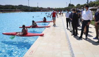 """Aguado: """"Los Campus Deportivos ayudan a fomentar el deporte saludable y ofrecen una alternativa a las familias para conciliar durante el verano"""""""