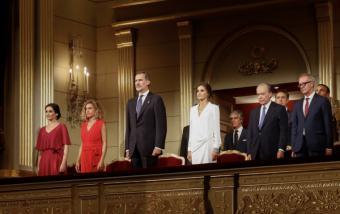 Díaz Ayuso asiste a la inauguración de la temporada del Teatro Real presidida por los Reyes