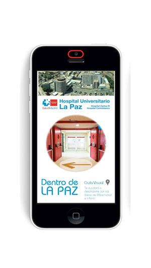 Una aplicación móvil guiará al paciente de La Paz por las áreas de Maternidad e Infantil