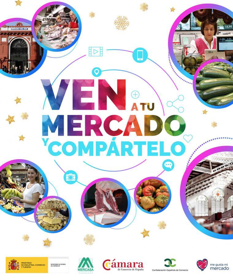 Nueva campaña de la Secretaría de Estado de Comercio para dinamizar la actividad comercial en los Mercados Municipales durante la campaña navideña