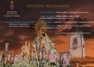 Este fin de semana se celebra el besamanos de Congregación de Nuestra Señora de la Consolación Coronada