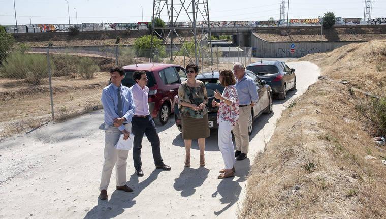 Obras en la urbanización La Cabaña de Pozuelo