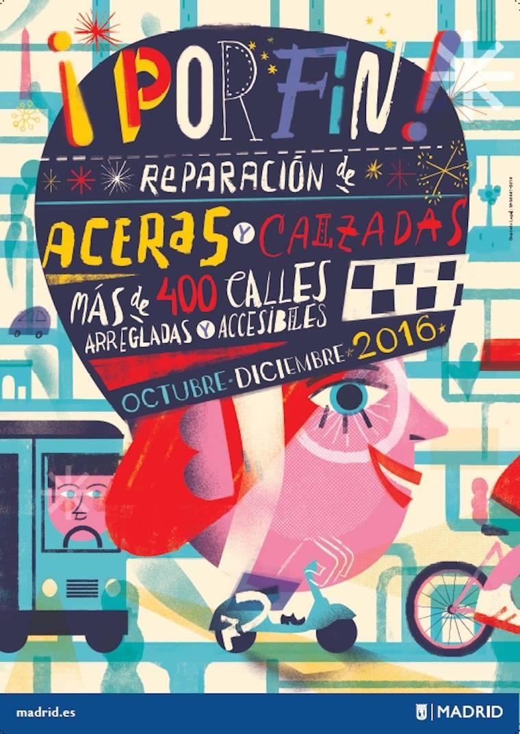 Plan de Choque para mejorar calzadas y aceras en Moncloa-Aravaca