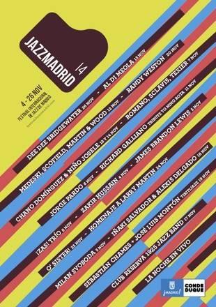 Cartel del Festival Internacional de Jazz de Madrid 2014