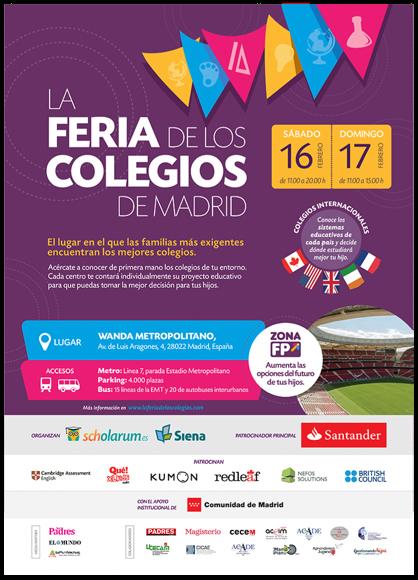 La Feria de los Colegios celebra su V edición después de los excelentes resultados de años anteriores
