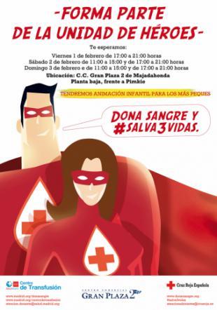 Cruz Roja organiza el IV Maratón de Donación de Sangre en el Centro Comercial Gran Plaza 2