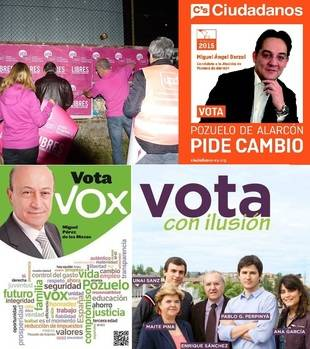 La Junta Electoral obliga a Somos Pozuelo, Ciudadanos, Vox y UPyD a retirar propaganda en Pozuelo