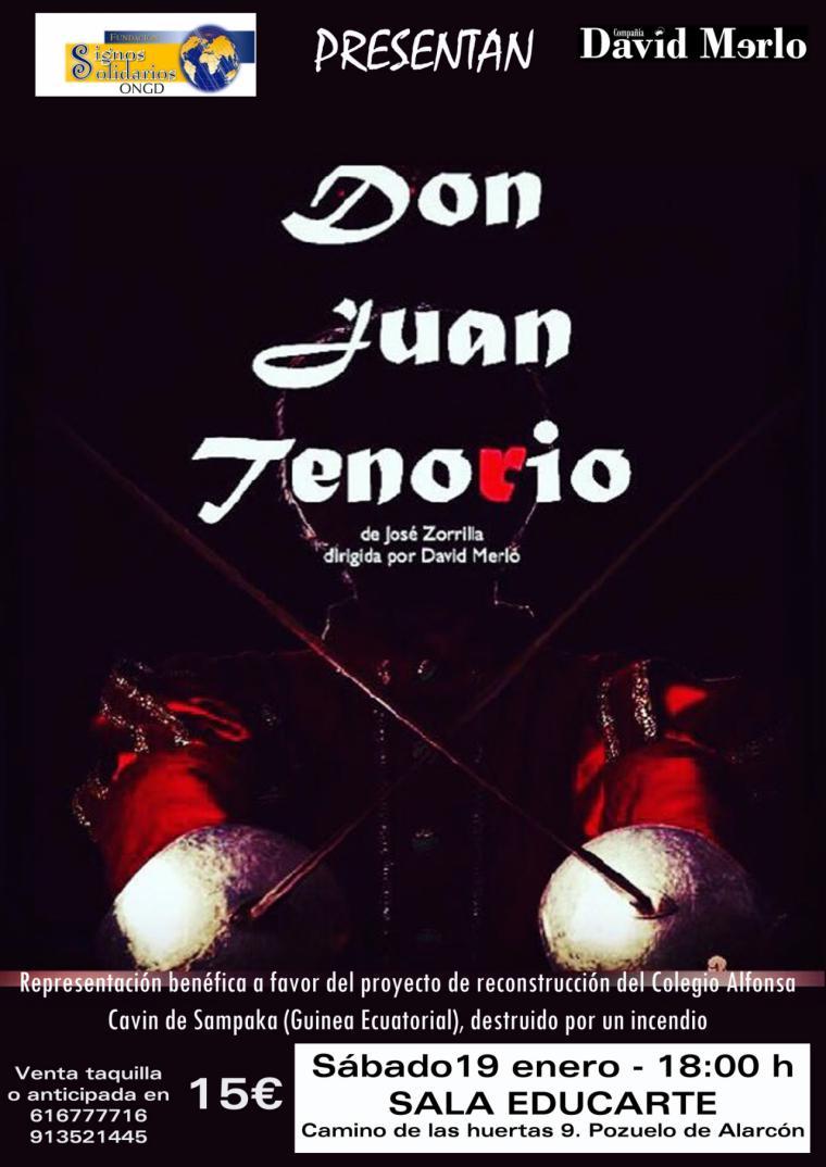 La compañía de teatro David Merlo representará Don Juan Tenorio en Pozuelo de Alarcón