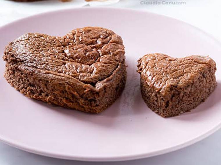 Pasteles de chocolate sin harina