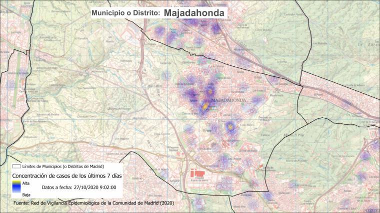 La Comunidad de Madrid amplía las restricciones a las zonas de Valle de la Oliva en Majadahonda, y Doctor Tamames y Barrio del Puerto, en Coslada
