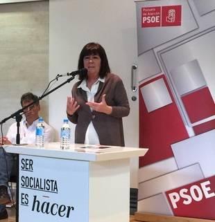La exministra de Medio Ambiente, Cristina Narbona, en la presentación de la candidatura socialista.