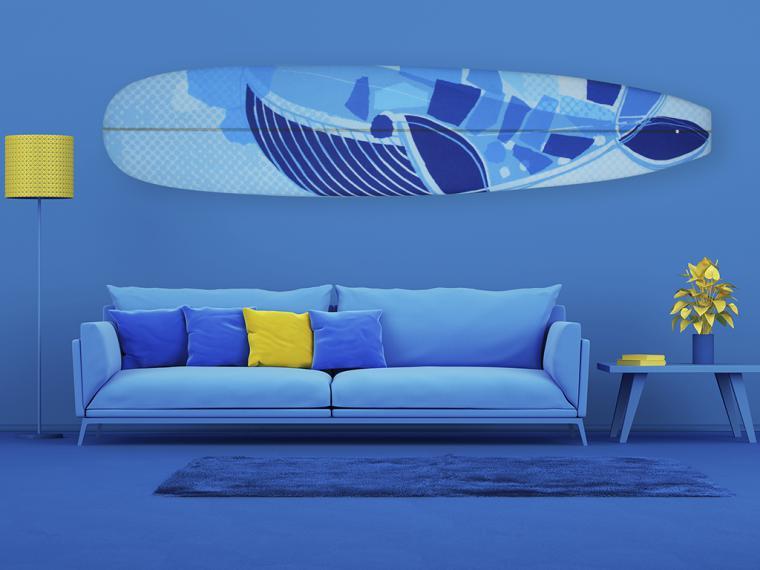 Las tablas de surf de la artista Delia Ruiz Malo