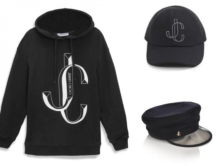 Jimmy Choo desvela una colección cápsula de edición limitada que incluye el modelo 'JC Puffer', camisetas, sudaderas, una gorra 'baseball' y un gorro 'barker boy'.