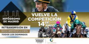 Domingo 14 de junio, ¡Vuelven las carreras al Hipódromo de Madrid!