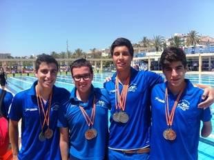 Medallistas del Club Natación Pozuelo. Campeonato de Natación Adaptada